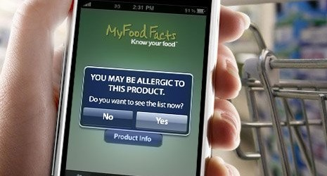 Food Allergy App for iPhone