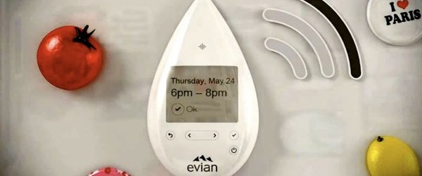 Order Evian Water From Your Fridge Via Wireless Magnet
